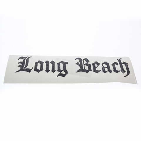 "5"" Old English Long Beach Vinyl Sticker"