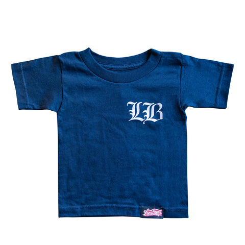 Old English LB Toddler Navy T-Shirt