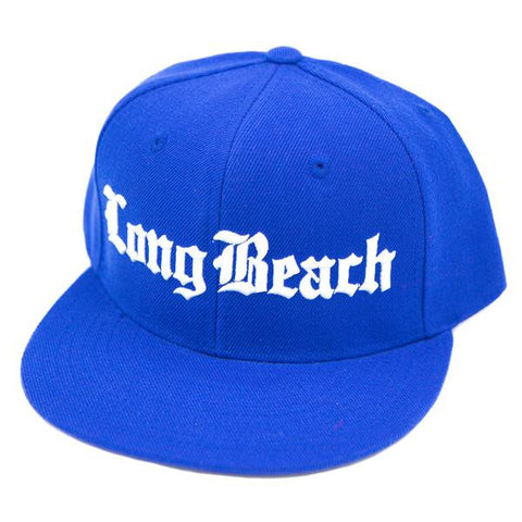 Old English Long Beach Royal Blue Snapback