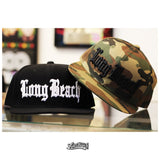 Old English Long Beach Camo/Black Snapback