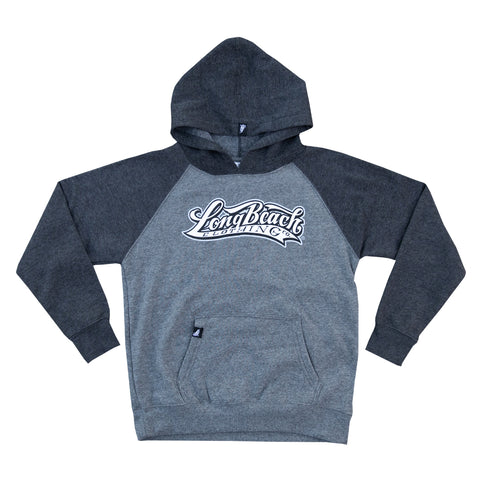 OG Logo Toddler Dark/Light Heather Grey Raglan Hoodies