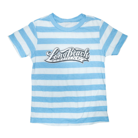 OG Logo Blue Striped Toddler T-Shirt