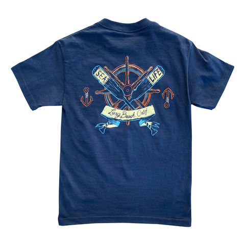 Long Beach Oars Men's Navy T-Shirt