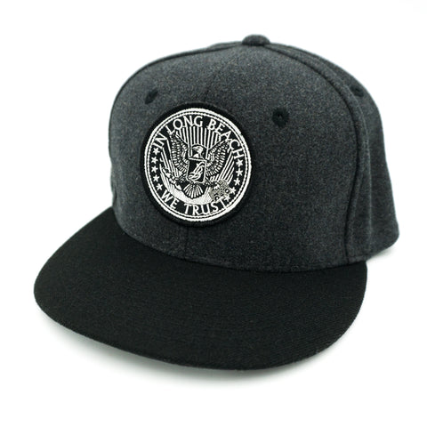 Official Seal Patch Grey Wool/Black Bill Snapback