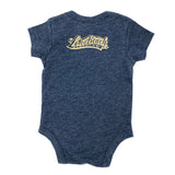 Long Beach Legend Heather Navy Baby Onesie
