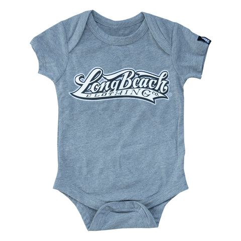 OG Logo Heather Grey Baby Onesie
