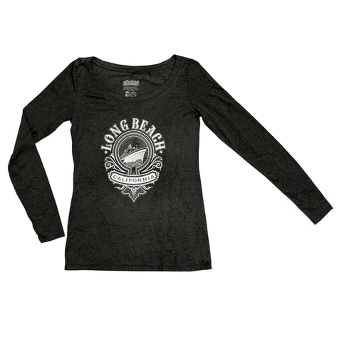 Cali Queen Women's Vintage Black Long Sleeve T-Shirt