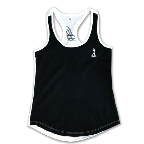 Lighthouse Women's Racerback Black Tank Top