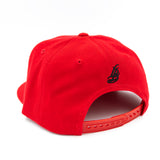 Cursive LB Black On Red Snapback