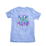 Long Beach Retro Floral Women's Heather Grey T-Shirt