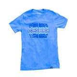 Retro Long Beach Women's Columbia Blue T-Shirt