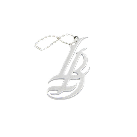 Stainless Steel Cursive LB Keychain
