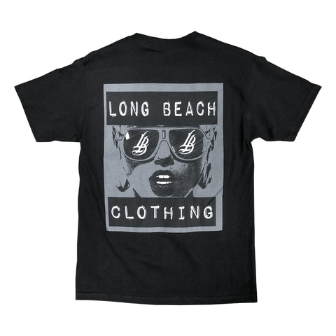 Cursive LB Shades Men's Black T-Shirt