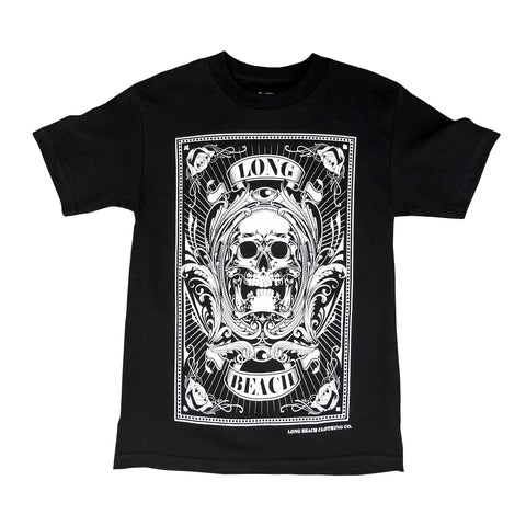 Skull Card Men's Black T-Shirt
