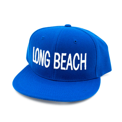 Long Beach Block Letter Royal Blue Snapback