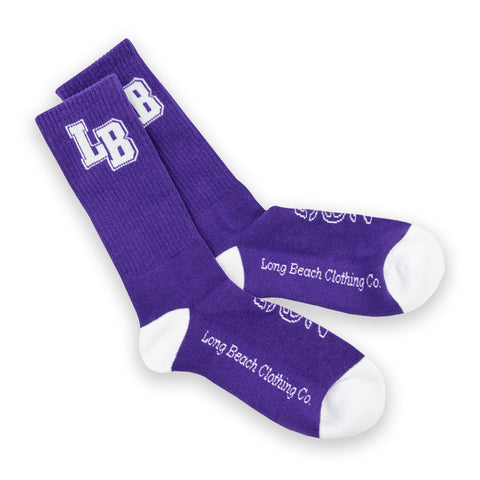 Classic Long Beach Clothing Purple Socks