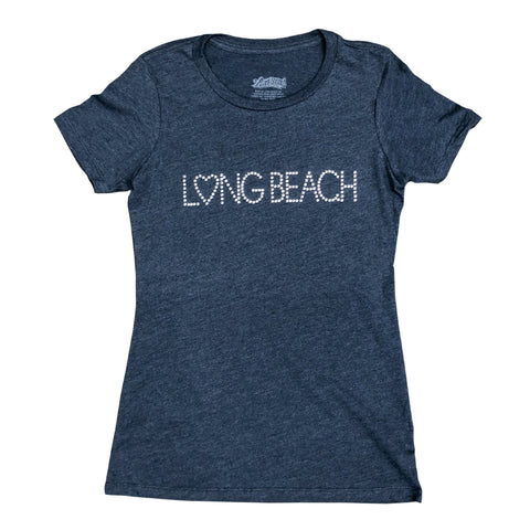 Studded Long Beach Women's Midnight Navy T-Shirt