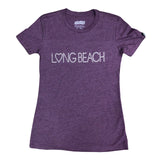 Studded Long Beach Women's Plum T-Shirt