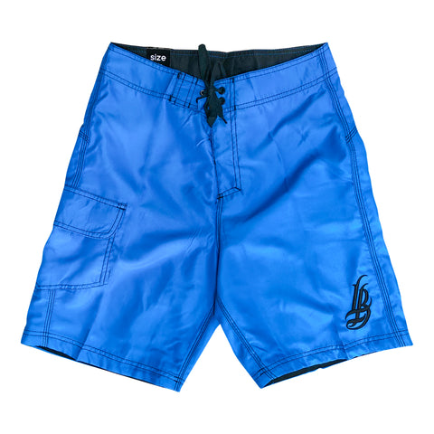 Cursive LB Men's Neon Blue Boardshorts