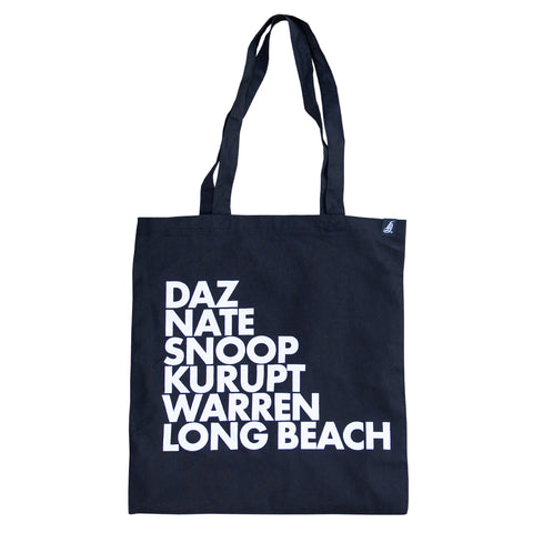 LB Rappers Black Canvas Tote Bag
