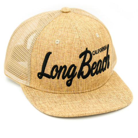 Long Beach Script Sand Trucker Hat