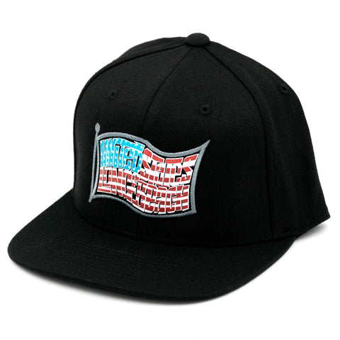 United States of Long Beach Black Snapback