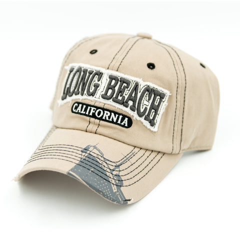 Weathered Long Beach Tan Dad Hat