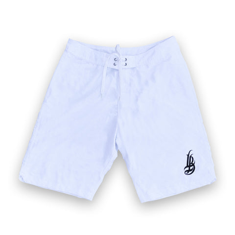 Cursive LB Men's White Boardshorts