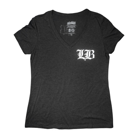 Old English LB Vintage Black Women's V-Neck