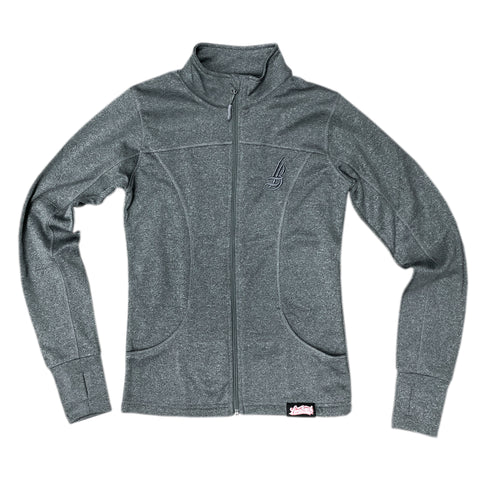 Cursive LB Women's Poly-Tech Grey Jacket