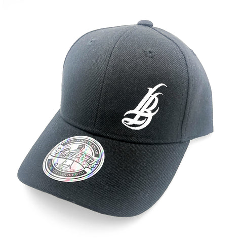 Cursive LB Youth Black Baseball Hat