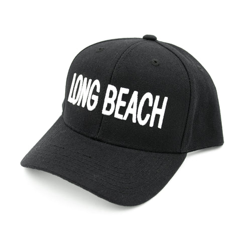 Block Letter Youth Black Baseball Hat