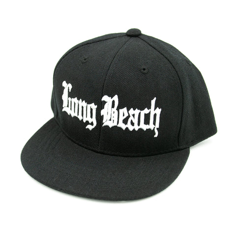 Old English Long Beach Black Youth Snapback