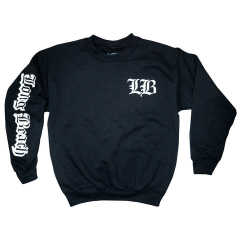 Old English Youth Black Crewneck Sweater