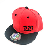 Old English LB Red/Black Youth Snapback