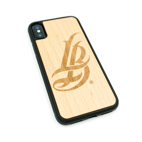 Wooden Cursive LB iPhone Case