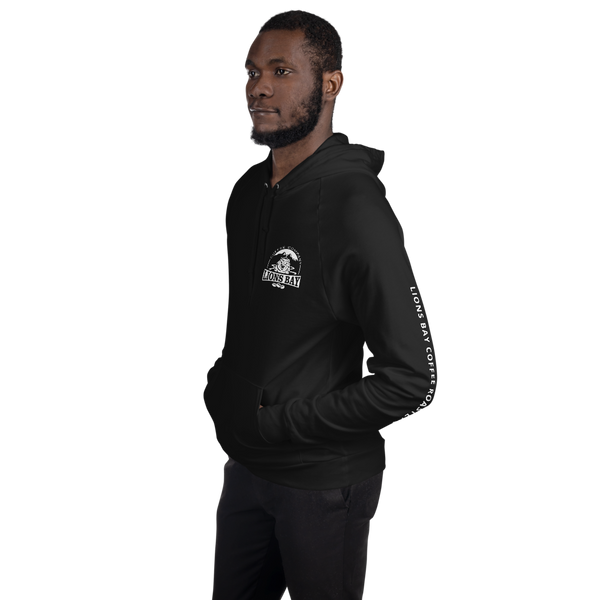 Stylin' with the Lion- Roarin' 100% cotton fleece hoodie - Lions Bay Coffee Roasters