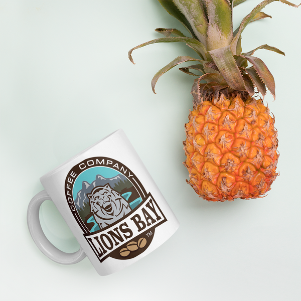 Stylin' with the Lion- Roarin' Logo Mug - Lions Bay Coffee Roasters