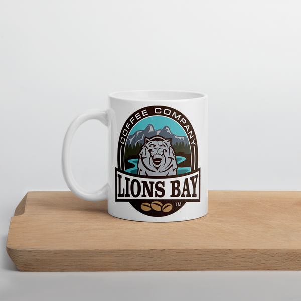 Stylin' with the Lion- Roarin' Logo Mug - Lions Bay Coffee Company Inc.