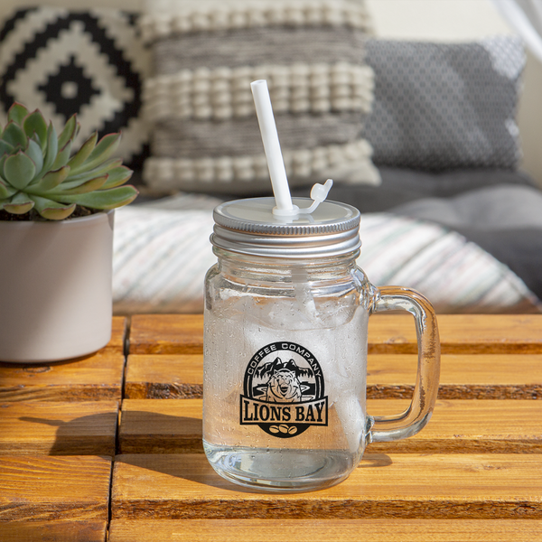 Stylin' with the Lion-Mason Jar - Lions Bay Coffee Roasters