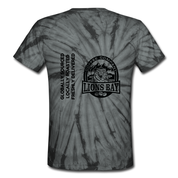Stylin' with the Lion- Roarin' -Unisex Tie Dye T-Shirt - Lions Bay Coffee Company Inc.