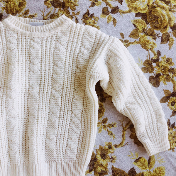 """Trend Basic"" vintage chunky cable knit sweater"