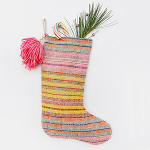"""Candy Colored"" Christmas Stocking"
