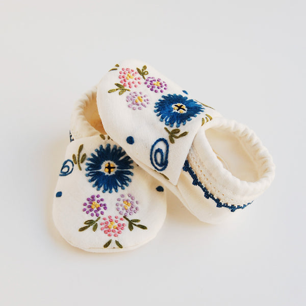 """Dottie"" baby booties"