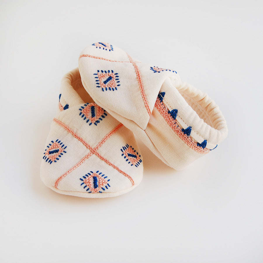 """Halona"" baby booties"