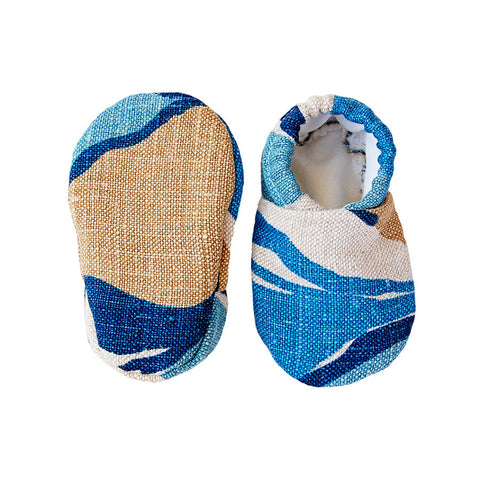 """Ocean"" baby booties 