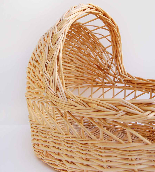 Boho Baby Doll Woven Wicker Bassinet