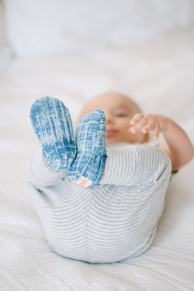 """Edith"" baby booties"