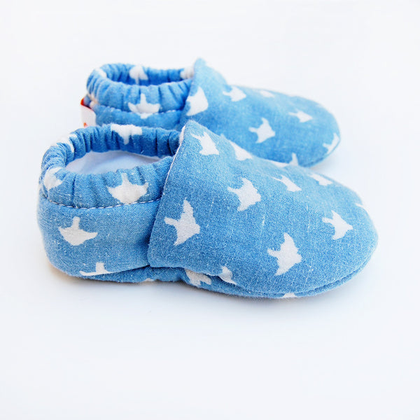 """Summer of '75"" baby booties 