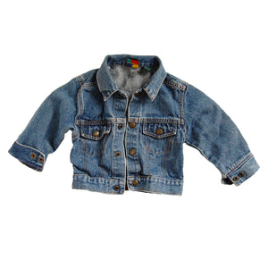 """I love the 90s"" vintage kids denim jacket (size: 2T)"